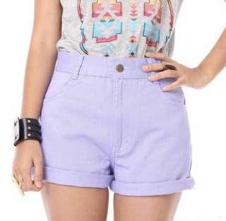 Lilac Highwaist Shorts
