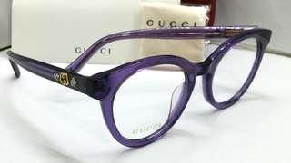 🚚 Authentic Gucci spectacles eyewear GG0348O Purple Made in Italy