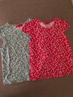 Girls floral tee (2piece!)