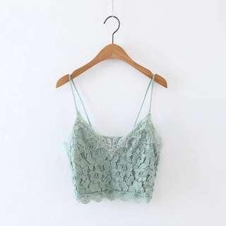 Jade Lace Top
