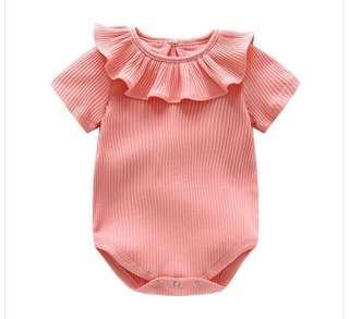 🚚 <Back in stocks> Baby girl romper with ruffled collar design