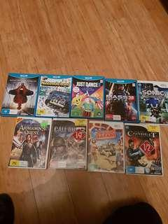 Wii and wii u games!!