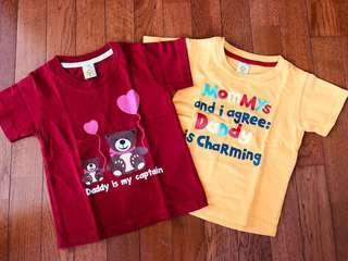 Set Kaos Anak edisi Sayang Papa ❤️