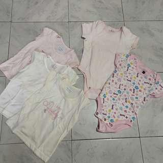 Pre-loved Shirt 6-9 mons and Onesies 6-12mons(Bundle1)
