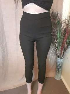 Valley Girl Black High Waist Pants Size 8 New