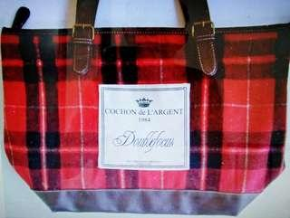 Doublefocus England Plaid Bag crochet leather