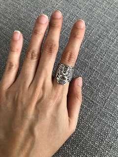 🚚 Kenzo Medium Silver Tiger ring