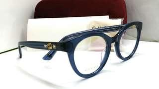 🚚 Authentic Gucci spectacles eyewear GG0348O Blue Made in Italy