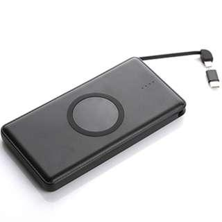 Powerbank with wireless charger