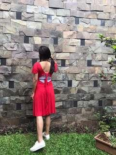 ZARA dress red merah