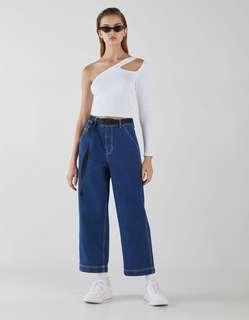 Bershka Culottes Wide Leg Jeans