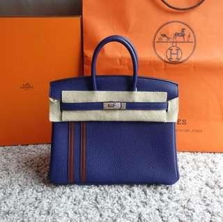 98ba5fee18 BNIB  C Hermes Birkin 25 L Officier Blue Encre