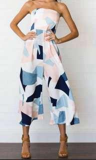 🚚 Tube Jumpsuit Colourful Abstract Geometric (Elastic band at top, stretchable)