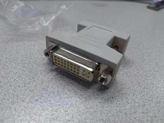 DVI [F] to VGA  [M] adaptor  轉頭 接頭