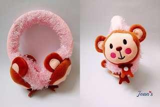 🚚 療癒系大頭猴保暖卡通耳罩
