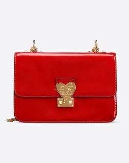 🈹Valentino L'amour Red patent leather bag⬇️