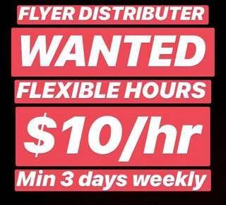 Door to Door Flyer Distributer Wanted