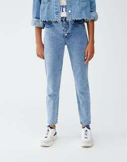 Pull & Bear Mom Jeans with Outer Buttons