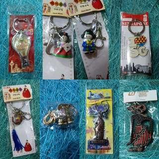 Key Chains / Souvenirs from Asian countries