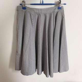 Lanvin en Bleu Striped Skirt Size 38