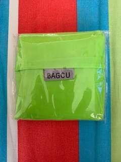 Bagcu lime green shopping bag