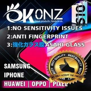 🚚 OKONZ Premium tempered glass Screen Protector all models