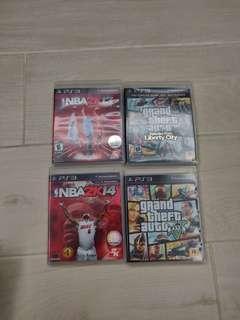 PS3 Games - NBA 13 & 14, GTA 5 & Liberty City