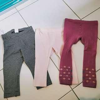 Pre loved leggings H&M/Mothercare brand 6-9mons(bundle5)