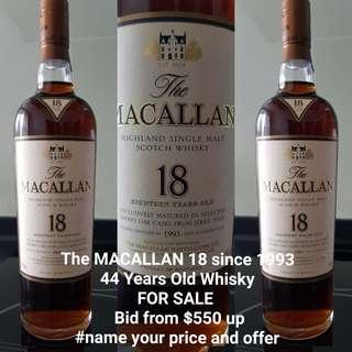 MACALLAN 18 since 1993 - 44 Year old Whisky
