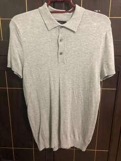 Zara Man Grey Polo (oversized) size small