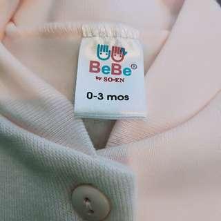 Preloved Onesie Full BeBe Brand 0-3mons