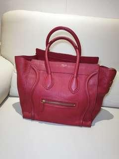 862583073f Celine luggage bag red