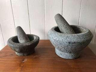Vintage Stone Pestle and Mortar