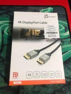 4K DisplayPort Cable