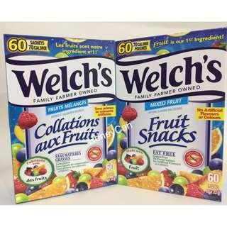 (預售) 加拿大版 Welch's 雜果味果汁軟糖 (一盒有60包😋)