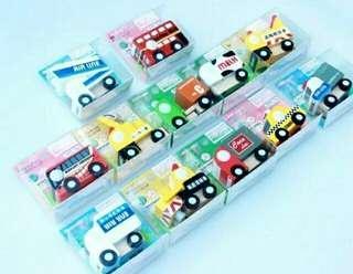 現貨[木質玩具]木質小車車一組12入,AB兩款