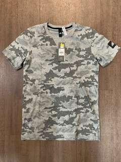 adidas Grey Camouflage pattern tee new with tag