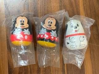 Yujin Disney Mickey Minnie Mouse Dalmatians matryoshka 米奇米妮老鼠101班點狗 俄羅斯娃娃