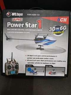 Helikopter PowerStar1 - 6CH  3D-6D switch - 6 Gyro axis