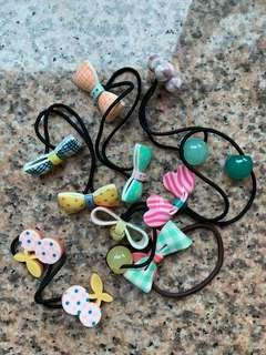 Assorted plastic hair bands 7 pcs 頭飾7件