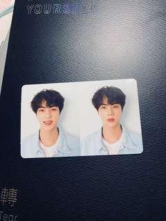 bts jin r photocard