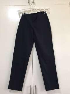 Uniqlo Women's Navy Blue Stretchable Trouser Pants