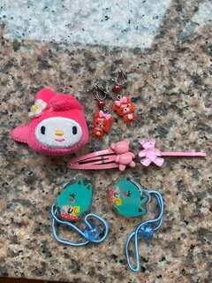 Assorted accessories 頭飾及小童夾耳環