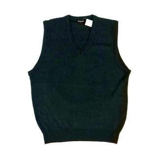 Basic Land Men's Japan Made Plain Knitted Vest Size M