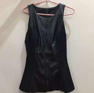 Peplum top leather guess