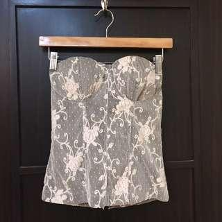 Unbranded Vintage-Style Lacey Bustier Top