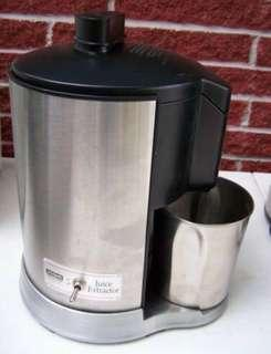 Waring Health Juice Extractor Stainless Steel Black
