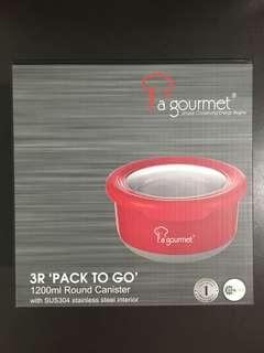 La Gourmet 1200ml Round Canister