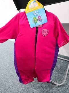 Speedo小童學泳游水連身褲 保暖衣 5至6歲 浮力衣  馬拉松 運動家 yata