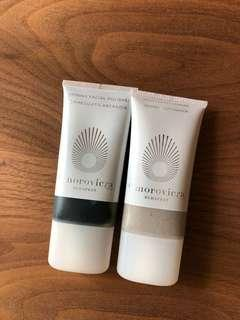 Omorovicza moon cream cleanser & refining facial polisher 30ml each travel set